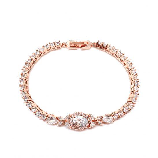 Rose Gold Bridal Wedding bracelet