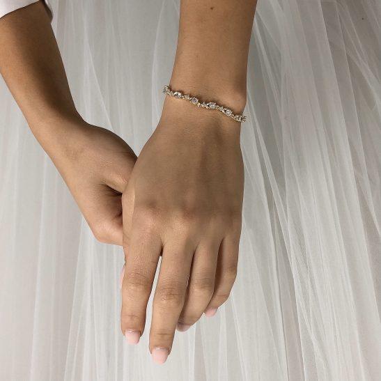 bridal bracelet on real bride