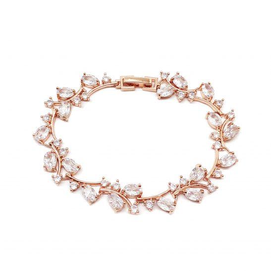 Crystal Rose Gold Bracelet for Bride