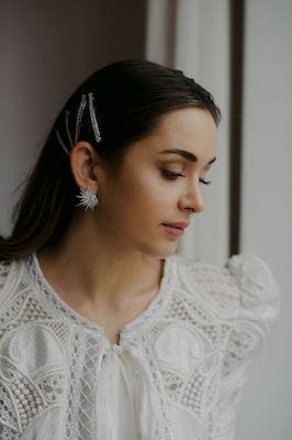 Silver and Crystal Bridal Hair Pin