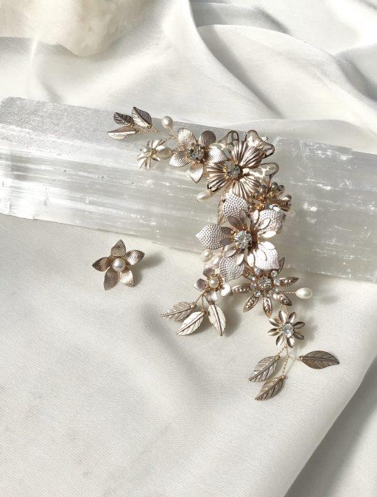 Floral Bridal Ear Cuff