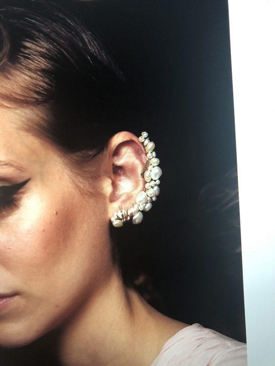 Clip On Bridal Ear Cuff