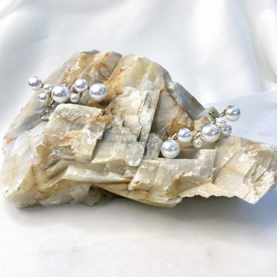 Gold and Pearl Bridal Ear Cuff