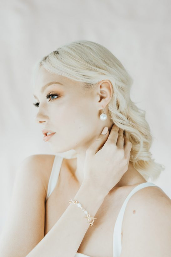 The most delicate pearl drop earrings that suit a bride with petite features. This classic bridal style is made with a quality design that can create a signature look for the whole bridal party. These pearls would make a perfect gift for your closest girlfriends.