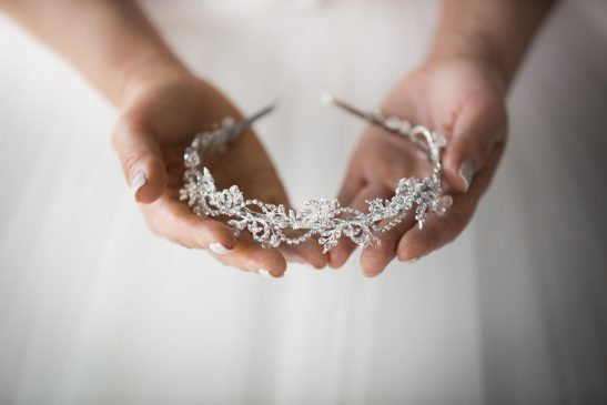 A wave of delicate crystals on a silver headband make this a must-have piece for the fashion-forward bride-to-be. You will have a sentimental love of this bridal accessory the moment you wear it. It will be a prized piece in your accessory collection and we can even imagine occasions it would be worn again.
