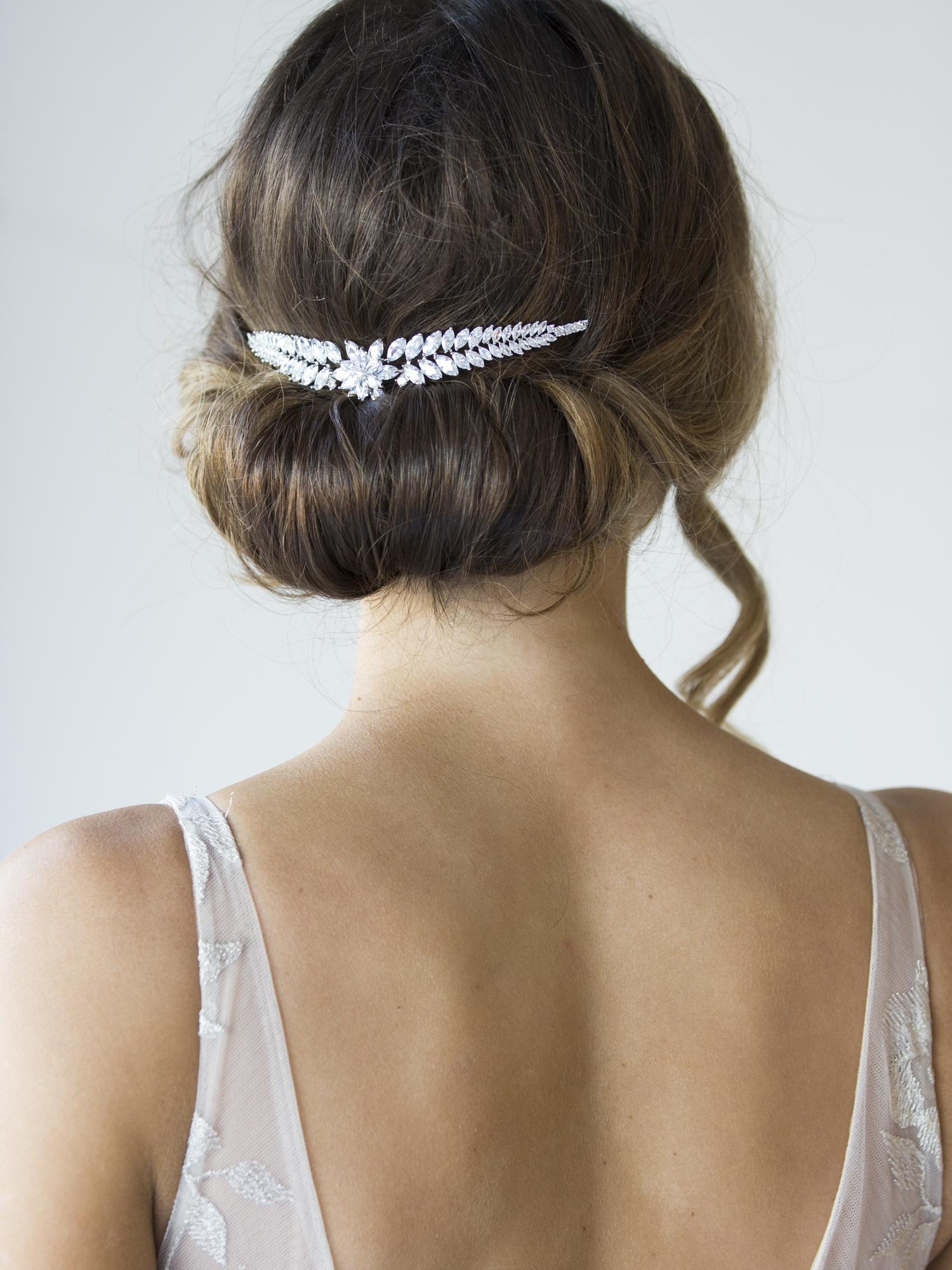 Bridal Headband for back of hair