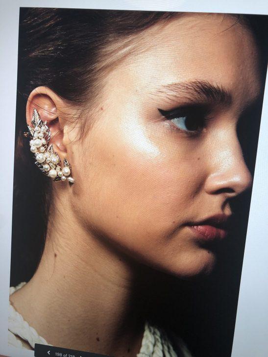 Pearl Bridal Ear Cuff