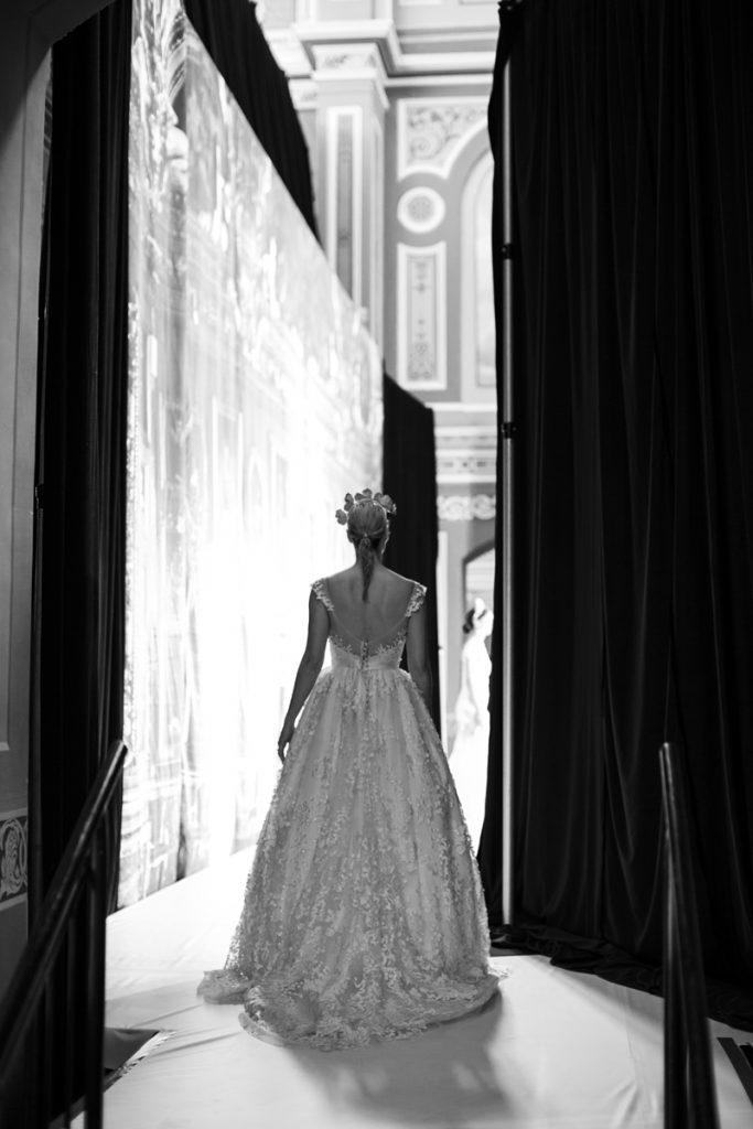 backstage at bridal runway expo