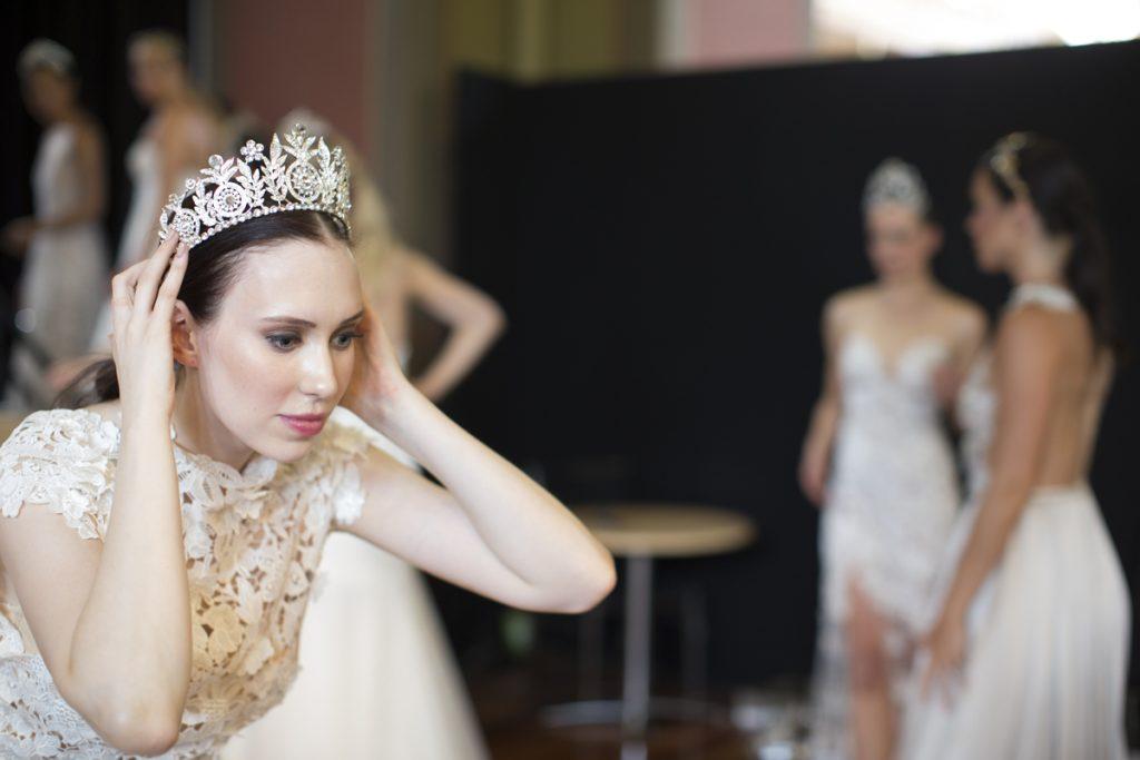 jeweled silver swarovski crystal crown