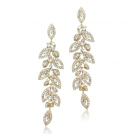 Gold and Crystal Drop Earring for the bride or bridesmaid